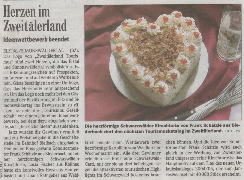 BZ-Artikel - Herzen im Zweitälerland